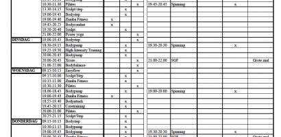 Trivium sport - rooster vanaf 5 oktober 2020